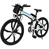 ferty Folding Electric Moped Sport Mountain Men Bicycle with Large Capacity Battery [US STOCK]