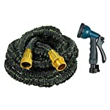 The Fit Life Best Garden Hose Expandable & Retractable Automatic Water hoses Lightweight No Kink Easy to Use Flexible For Gardening and Car Washing 100Ft