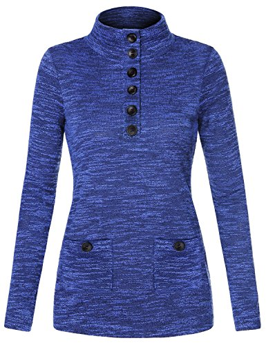 For Juniors Sweaters & Hoodies,Messic Women's Pullover Slim Knitted Shirt Active Outwear Sweater Blouse,Royal Blue,M