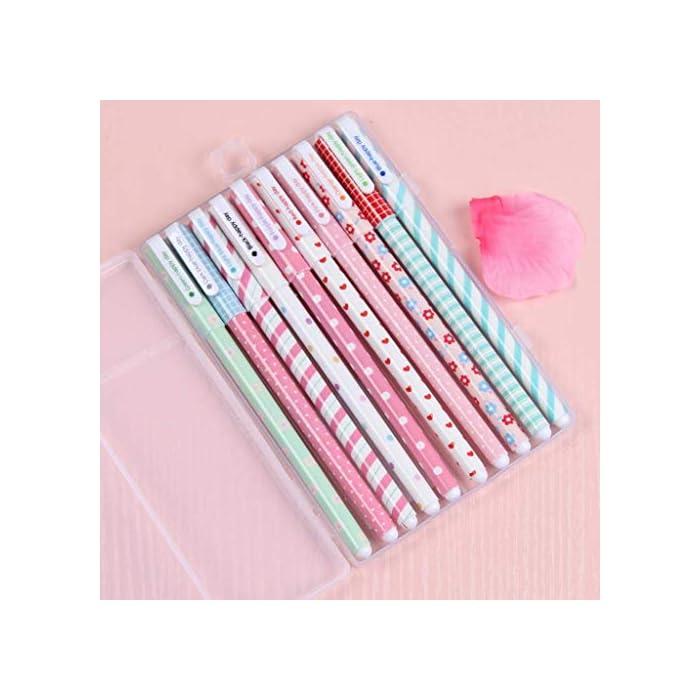 51ieFNkr6vL Haz clic aquí para comprobar si este producto es compatible con tu modelo ?El paquete incluye: Estuche de Lapices rosa + 10 pcs boligrafos de colores ?Diseño divertido y moderno:el bonito estuche está hecho de algodón y lino de alta calidad, una cremallera resistente