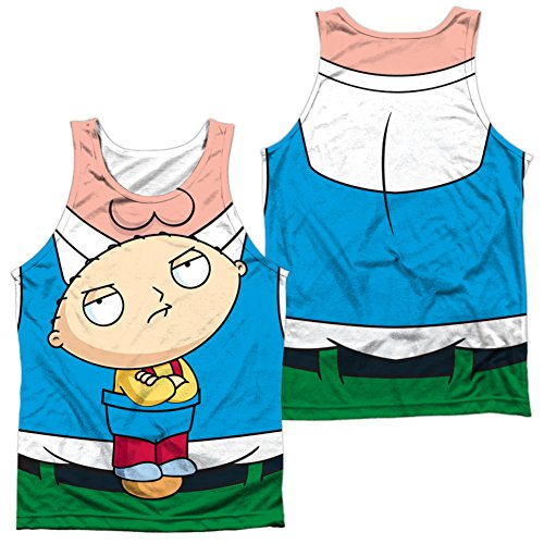 [Tank Top: Family Guy- Stewie Carrier Costume Tee (Front/Back) Size L] (Group Costumes For 3 Guys)