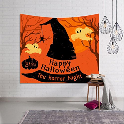 Halloween Beach Cover Up Tunic Tapestry Wall haning Room dorm Home Decor,Beach Blanket,Rectangle,Tuscom (59×78.7