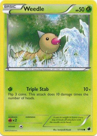 Pokemon - Weedle (1/116) - Plasma Freeze