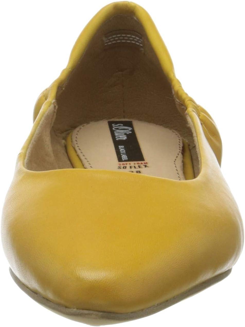 s.Oliver Damen 5-5-22101-24 Geschlossene Ballerinas Gelb Saffron 601 dIWFe
