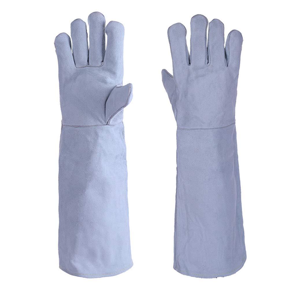 LDKFJH Heavy Duty Lined Reinforced Welding Gauntlets Welder Labor Gloves Gloves Welders Gloves Gardening Gloves High Temperature for Yard Work, Farm