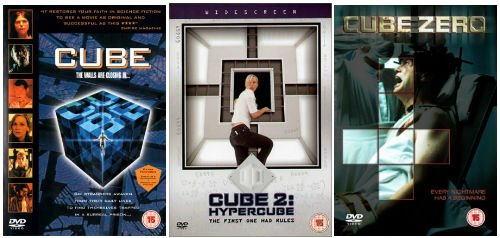 The Complete Cube Trilogy 1 - 3 DVD Movie Collection: Cube / Cube 2: Hypercube / Cube 3: Cube Zero