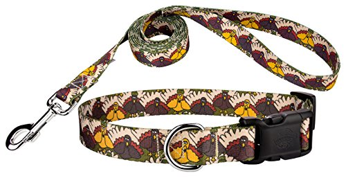 Country Brook Petz | Pilgrim Turkey Deluxe Dog Collar & Leash - Mini