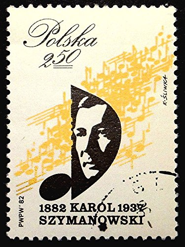 Karol Szymanowski 1882-1937, Composer and pianist, Music -Handmade Framed Postage Stamp Art 22409AM