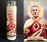 Mose Mary and Me Anthony Bourdain Devotional Prayer Saint Candle