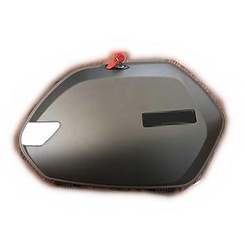 Motocicleta ABS Plástico LED Gris Caja Tronco Lateral Edge Maletas Para Yamaha Nmax 155 nmax150 125: Amazon.es: Coche y moto