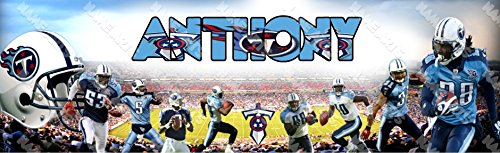 (Personalized / Customized Tennessee Titans Name Poster Wall Decor Door Birthday Art Banner )