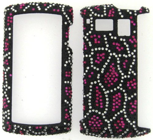 FULL DIAMOND CRYSTAL STONES COVER CASE FOR SANYO INCOGNITO 6760 BLACK - Faceplates Sanyo Hard