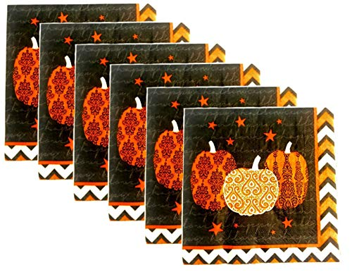 Halloween Party Pumpkin Themed Paper Lunch Napkins - 40 Count