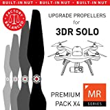MAS Upgrade Propellers for 3DR Solo with Built-in Nut in Black - x4 in Set