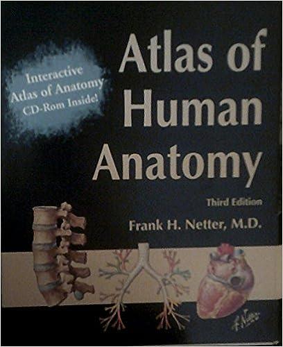 Atlas Of Human Anatomy 3rd Edition Frank H Netter 9781929007585