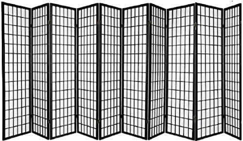 10 Panel Room Divider Square Design – Black