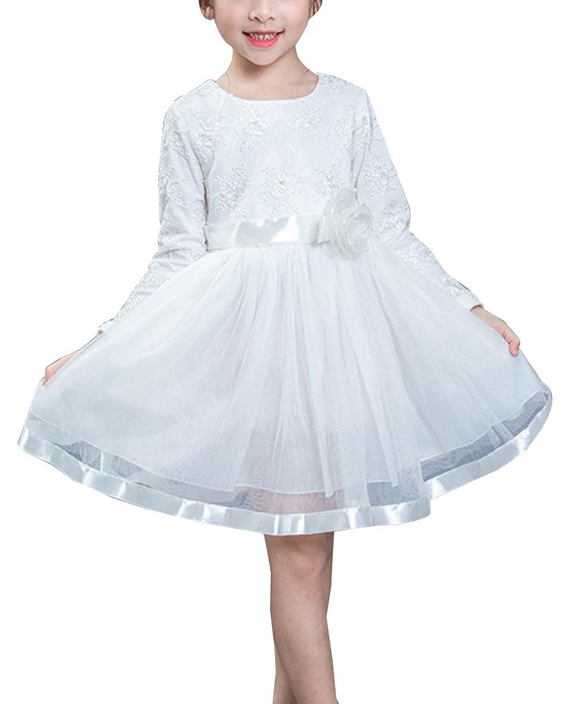 Gladiolus Mädchen Kleid Prinzessin Hochzeit Festlich Lange Ärmel ...