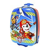 Nickelodeon Paw Patrol Design Carry On Rolling Backpack Kids Luggage, Bold Modern Hardside Graphic Flying Dogs Theme, Multi Compartment, Fashionable, Fun Animals Hard Travel Bag, Blue, Red, One Size