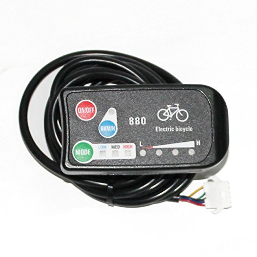 24V/36V e Bike 3 speed PAS LED Control Panel/Display Meter 880 for Electric Bicycle DIY Conversion Parts