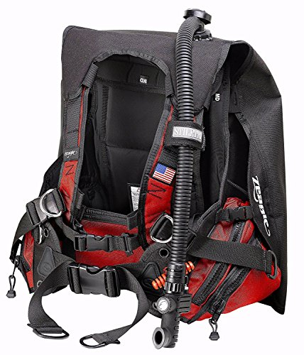Zeagle Stiletto BCD with the Ripcord Weight System, Black Red - SM ()