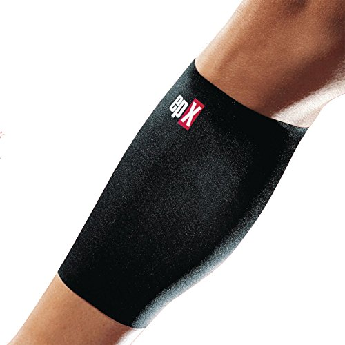 epX Contoured Calf Support, Calf Compression Sleeve for Shin Splints, Pain Relief, and Strains, for Running, Cycling, and Sports, Improves Circulation, Injury Recovery & Prevention, Breathable