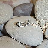 3mm White Opal EAR CLIMBER Earring // Silver Ear Cuff - Pin Earrings - Ear Wrap - Bar Studs - Earcuff - Post Stud Earrings