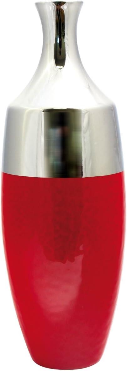 Dreamlight Vase d/éco Moderne Vase Fleur Facella Vase c/éramique Rouge//Argent Hauteur 33 cm