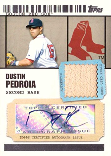 2009 Topps Ticket to Stardom Relics #TSAR-DP Dustin Pedroia Certified Autograph Game Used Bat Baseball Card - Only 489 made! (Topps Ticket 2009)
