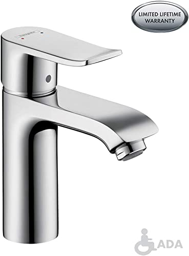 hansgrohe Modern -Handle Tall Bathroom Sink Faucet in Chrome, 04552005