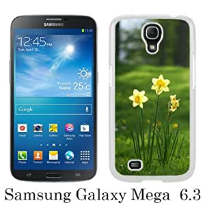 WOSN Daffodils Flowers White Case Cover for Samsung Galaxy Mega 6.3 i9200 i9205