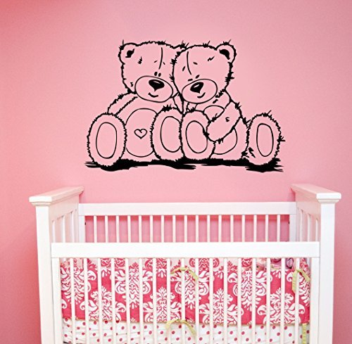 teddy bear window decal - 3