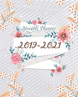 2019-2021 Monthly Planner: Cute Orange Floral Cover for ...