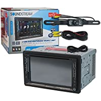 Soundstream VR-63B Car audio Double Din 2DIN 6.2 Touchscreen DVD MP3 CD stereo Bluetooth & DCO Waterproof Backup Camera with Nightvision