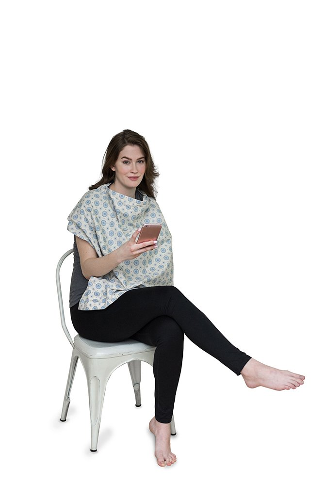 Belly Armor Nursing Cover With Anti-Radiation Shielding Fabric (Aster) | EMF Protection by Belly Armor (Image #2)