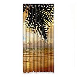 Beach Custom Polyester Soft healthy Windoww Curtain 50\