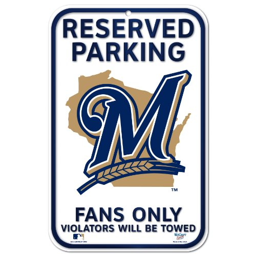 Mlb Baseball Street Sign - MLB Milwaukee Brewers 11-by-17 inch Sign