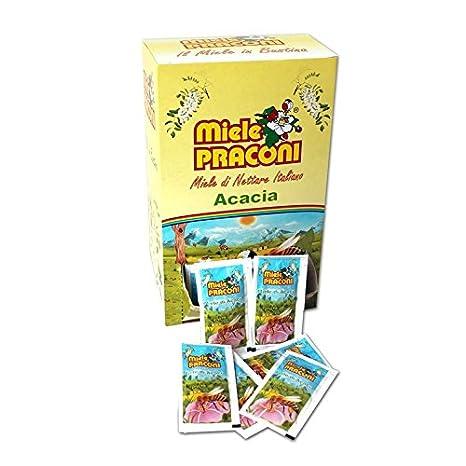 miele monodose  PZ 100 MIELE DI ACACIA MONODOSE 100 %ITALIANO IN BUSTINA GR. 5 ...