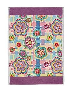 Feiler Cotton Happy Flowers Chenille 37 x 50 cm Hand Towel - Purple