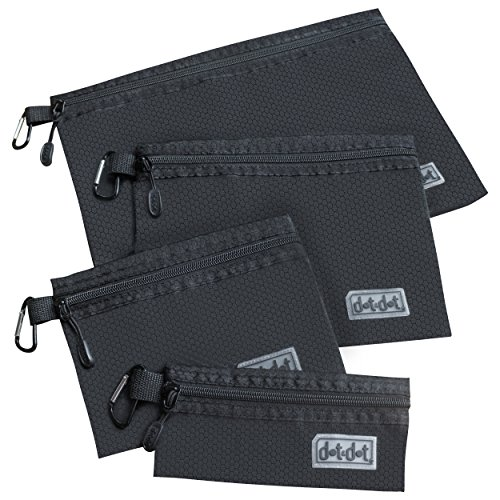 Set Black Coin (Organizer Pouches for Travel and Storage - Durable and Water Resistant Packing Bags/Zipper Envelopes)