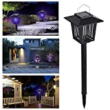 10. Lixada Bug Zapper Light,Solar Landscape Spotlights,2-in-1 Waterproof Solar Powered LED Light Electric Lamp for Yard Garden Driveway Porch Walkway Pool Patio