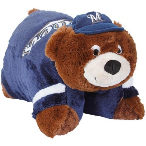 (Fabrique Innovations MLB Pillow Pet, Milwaukee Brewers, Large)