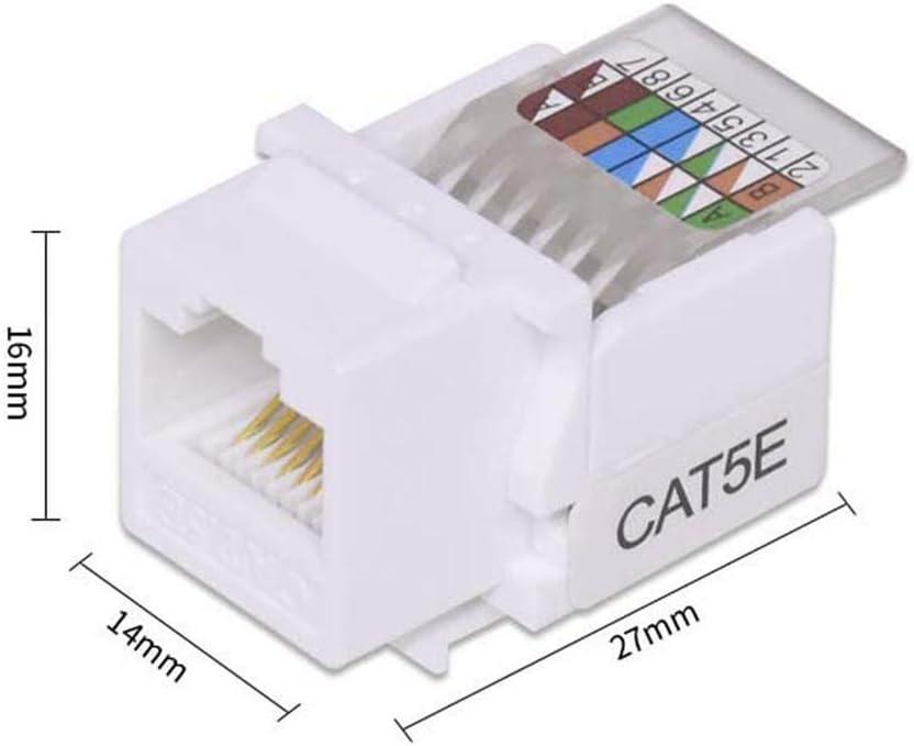 LIBEI Tool-Free Portable Computer Outlet Plug Connectors CAT5E UTP Network Module Information Socket RJ45 Connector Ethernet Cable