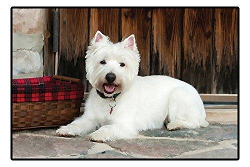 Designer West Highland White Terrier Fußmatte Indoor- und Outdoor Matte Türmatte 68cm x 46cm Hund