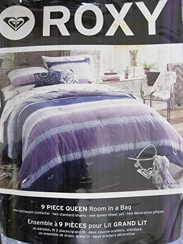 Roxy Comforter Set Tempa Tie 9-Piece Queen Size (Quicksilver Bedding Full)
