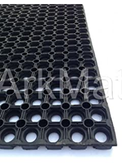 2 X Hollow Rubber Mat Grass Protection Mat, Ground Stabilisation,  Playground Safety, Boat