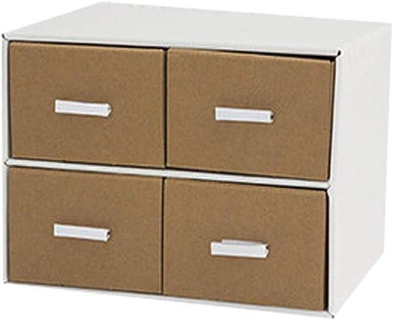 Archivadores HUXIUPING Caja de Almacenamiento Papel Escritorio Caja de Almacenamiento Oficina Estudiante Caja de Acabado Combinación Libre Cajón Multicapa (Color : Shell White): Amazon.es: Hogar