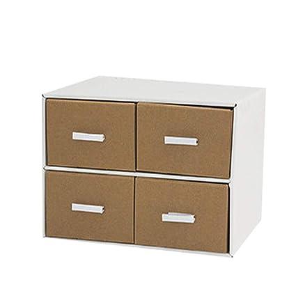 Archivadores HUXIUPING Caja de Almacenamiento Papel Escritorio Caja de Almacenamiento Oficina Estudiante Caja de Acabado Combinación