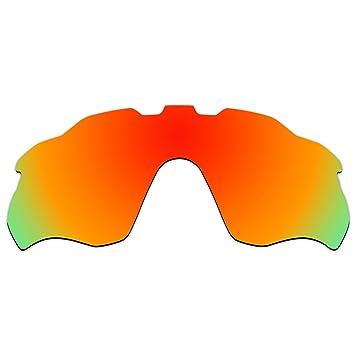 acompatible ventilado lentes de repuesto para Oakley Radar ritmo gafas de sol oo9333, Fire Red