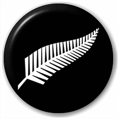 Amazon Com Retailzone Insignias Adulto All Blacks Bandera De Plata Helecho Pin Insignia De Boton Pin De Solapa Nueva Zelanda Rugby Jewelry
