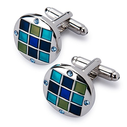 Men's Silver Polished Cufflink and Tie Clip Set in Gift Box -Personalized Men's Cufflink Gift Set Photo #8